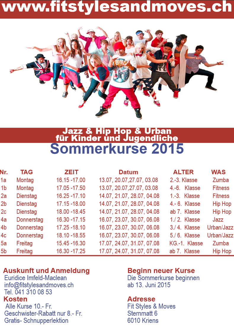 Fit Styles & Moves Sommerkurse